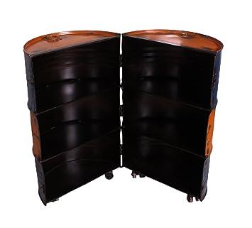 sit mobel drumline 8223 98 barschrank auf rollen aus alten olfassern metall