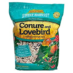 Kaylor made- Sweet Harvest Enriched Conure Lovebird Bird Food 4 Lb