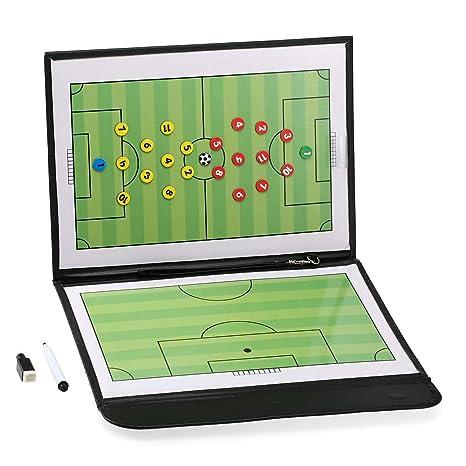 Lixada Carpeta Pizarra Futbol Táctica Magnética Plegable con ...
