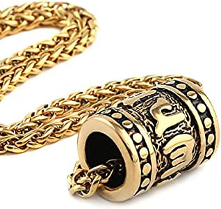 HZMAN Tibetan Zen Buddhist Meditation Yoga Bohemian Stainless Steel Jewelry Pendant Necklace