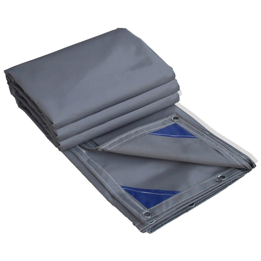 CHAOXIANG オーニング 厚い 折りたたみ可能 両面 防水 日焼け止め 耐寒性 耐摩耗性 耐食性 軽量 PVC グレー、 600g/m 2、 厚さ 0.6mm、 9サイズ (色 : グレー, サイズ さいず : 3x3m) B07D9LDW5B 3x3m|グレー グレー 3x3m