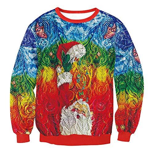 Chemisier No Tops Pre Femmes Collier Circulaire Magiyard No Multicolore l l Impression Sweatshirt nqSw4PAx1