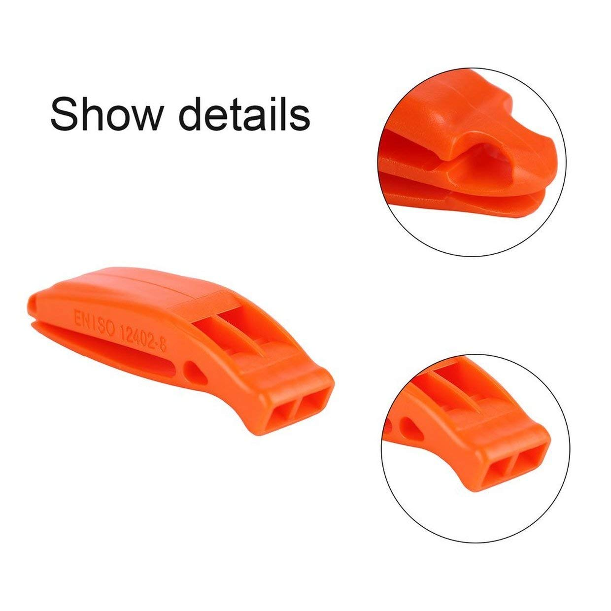MXECO Durable Lightweight Non-corrosivePortable Outdoor Survival Rescue Emergency Plastic Loud Whistle With built in Clip