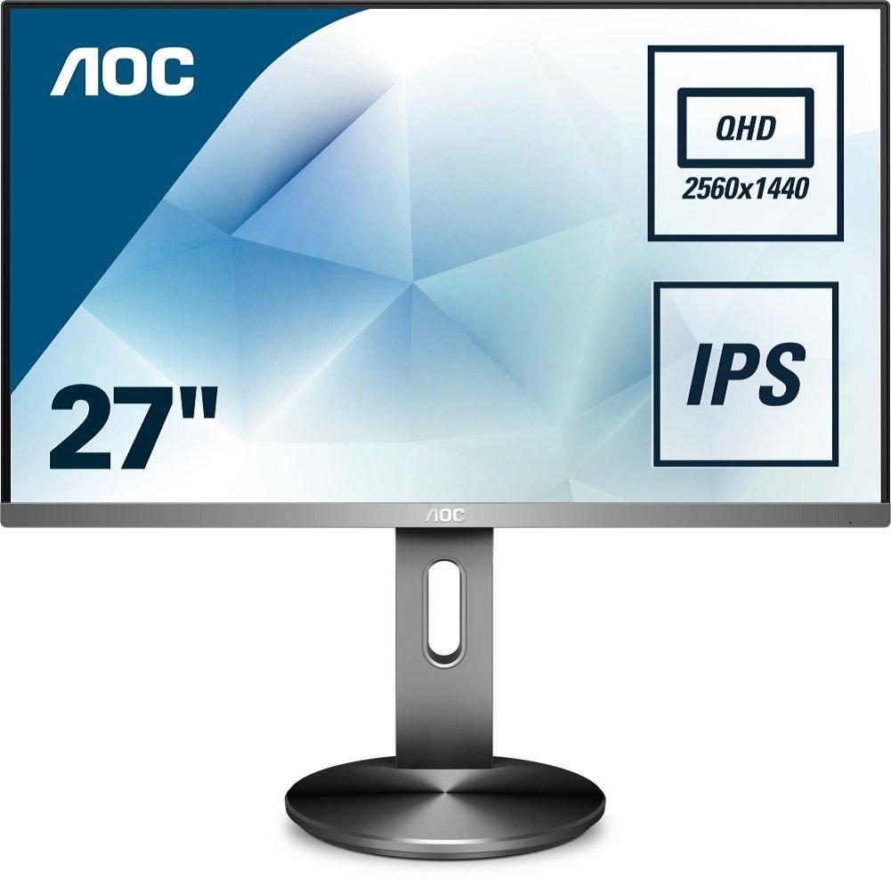 AOC Q2790PQU/BT - Monitor de 27' Quad HD (resolució n 2560 x 1440 Pixels, tecnologí a WLED, Contraste 1000:1, 4 ms, VGA), Color Negro AOC Q2790PQU/BT - Monitor de 27 Quad HD (resolución 2560 x 1440 Pixels tecnología WLED AOC International