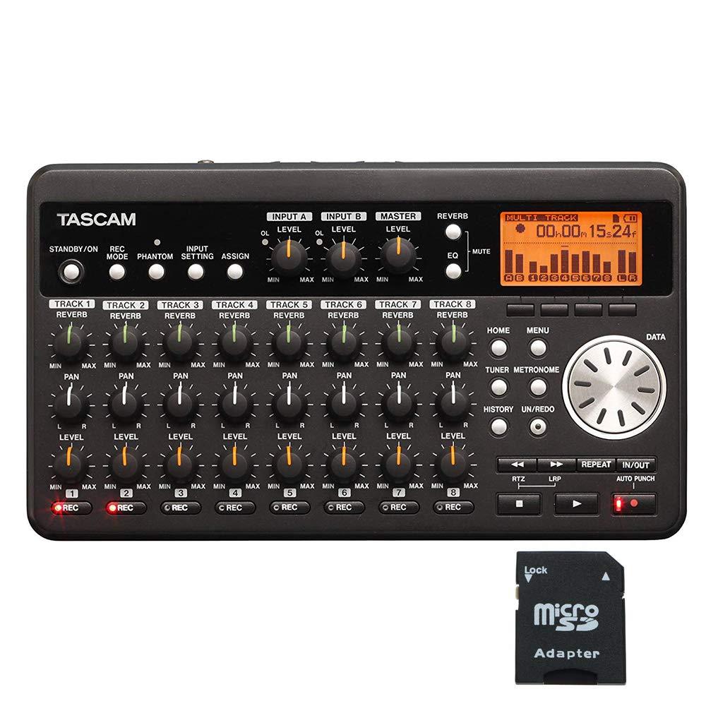 Tascam DP-008 8-Track Digital Portastudio with EV Music 32gb SD Card