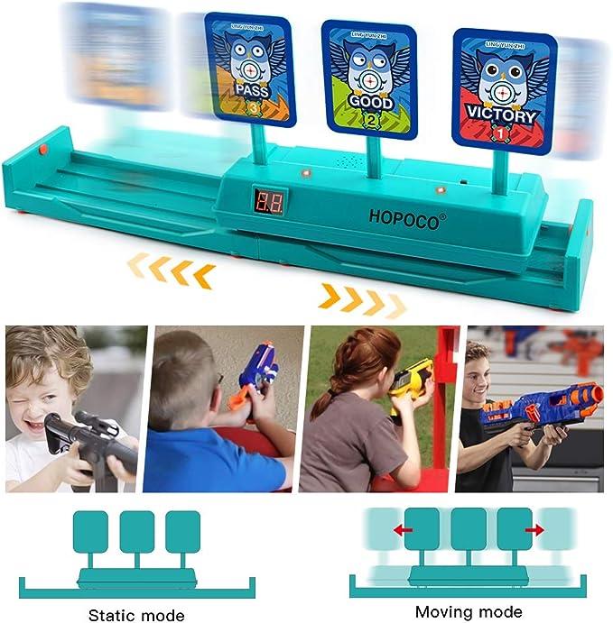 Hopoco Móvil Objetivo Digital electrónico para Nerf, Objetivo Digital Electrónico para Pistolas Nerf con Restablecimiento Automático para Nerf N-Strike Elite/Mega/Rival Series (Solo Objetivo): Amazon.es: Juguetes y juegos