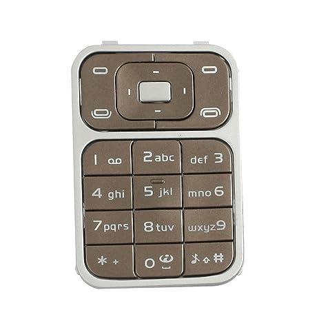 Teclado teclado del color del café Reparación de plástico de silicona para Nokia 7390