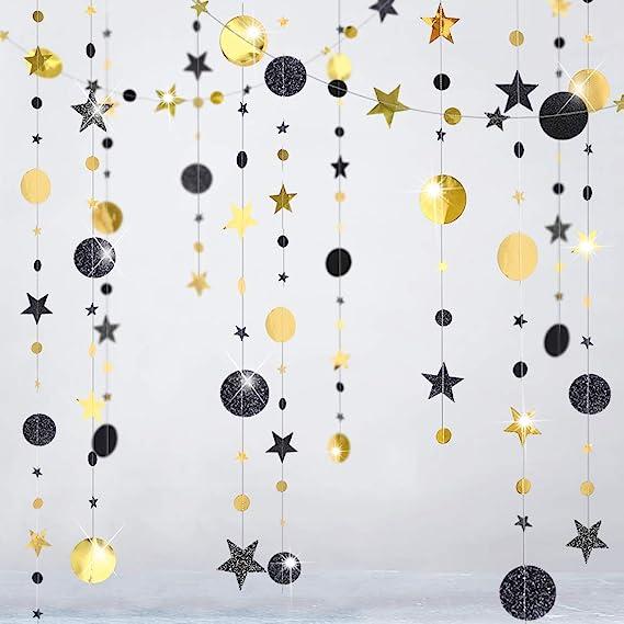Zoom Party Background Small Stars Medium Stars Large Stars Gold Star Garland
