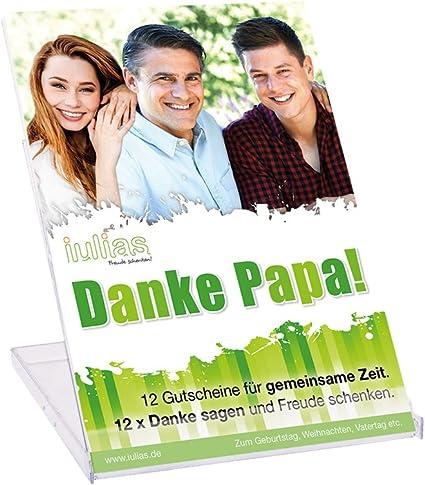 Iulias Verlag Danke Papa! Tarjetas con 12 vales de regalo para el día del padre o como regalo para cumpleaños y Navidad (idioma español no ...