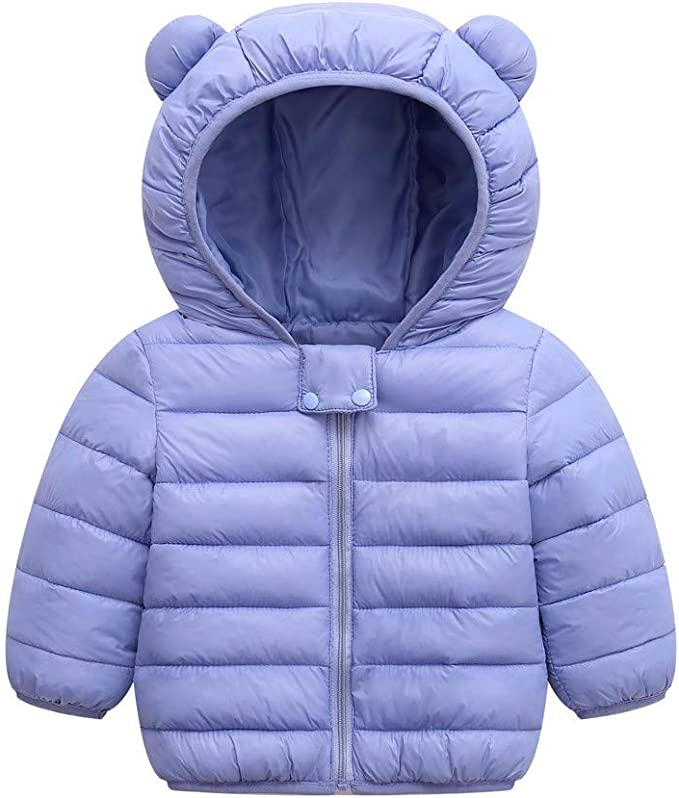 OCHENTA Big Boys Winter Cotton Thick Hooded Parka Outwear Coat Age of 4-11