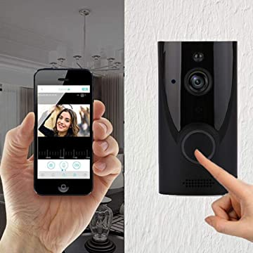 lenour Home WiFi Smart Wireless Security Doorbell Recording Video Kits HD Wide Angle Security Camera with PIR Motion Detection