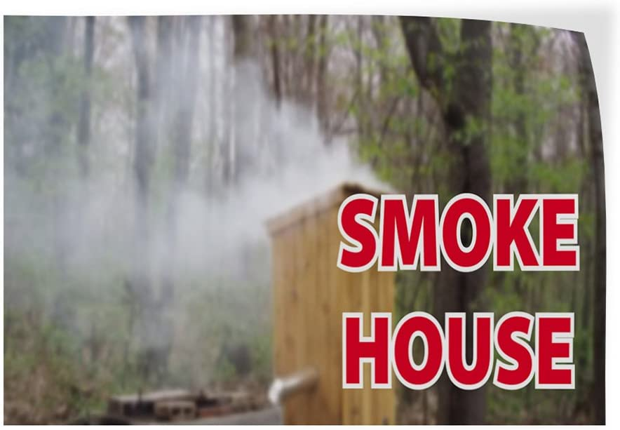 14inx10in Decal Sticker Multiple Sizes Smoke House Business Smoke House Outdoor Store Sign Green Set of 10