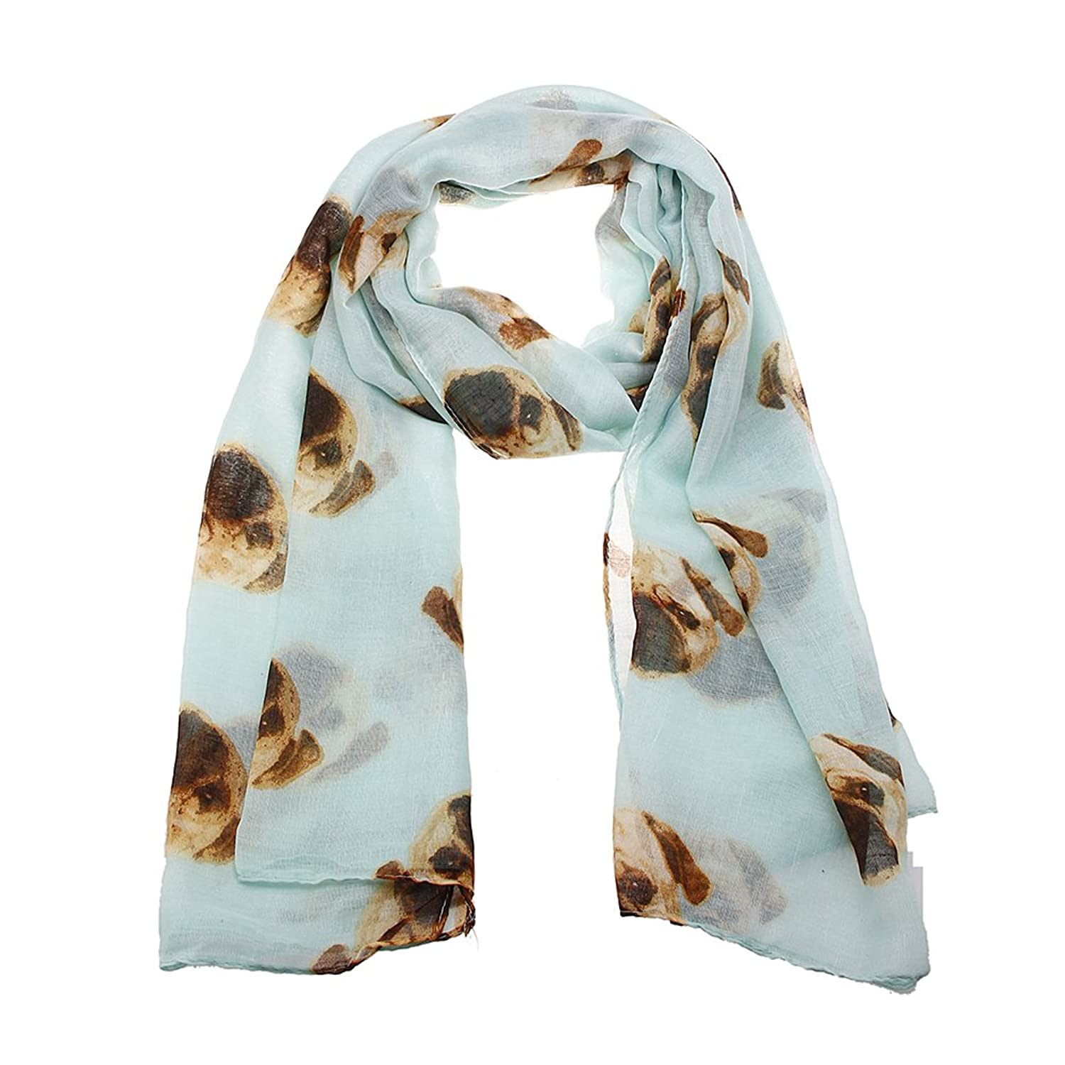 Choose Brand new Colour ~ Gorgeous Pug Dog Print Ladies Soft Scarf ...