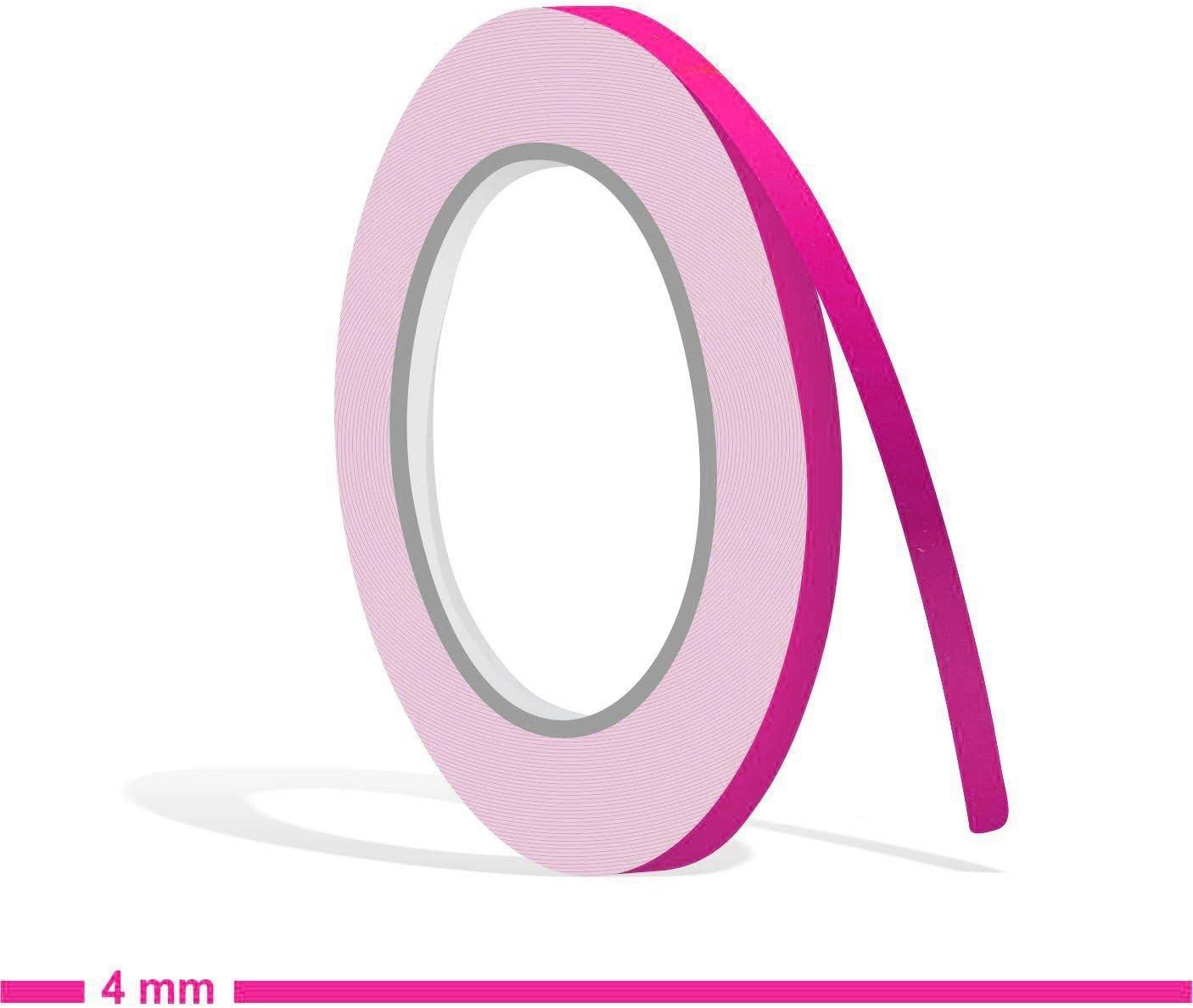 Siviwonder Zierstreifen pink in 4 mm Breite und 10 m L/änge Folie Aufkleber f/ür Auto Boot Jetski Modellbau Klebeband Dekorstreifen rosa