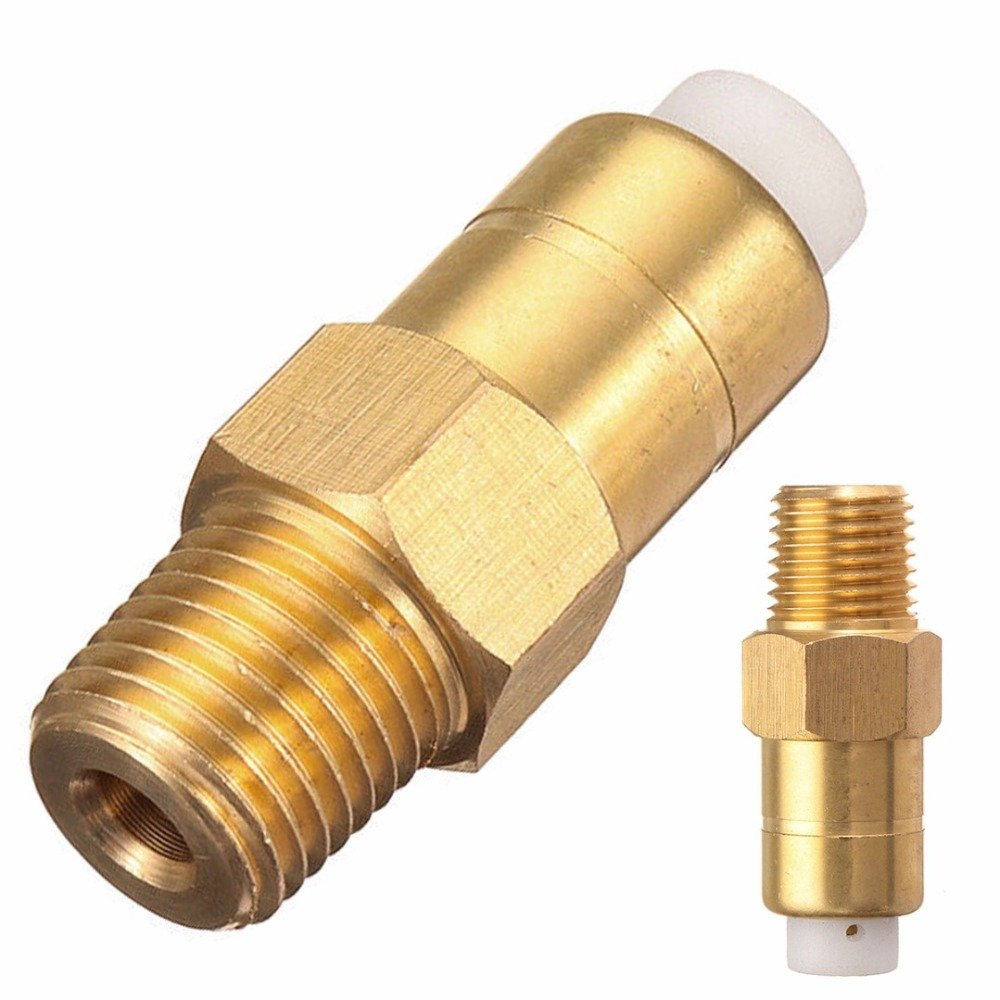 WILLAI 1pc Brass Thermal Relief/Release Valve 1/4'' Thread 40x14mm For Air Compressor Pressure Washer Water Pump