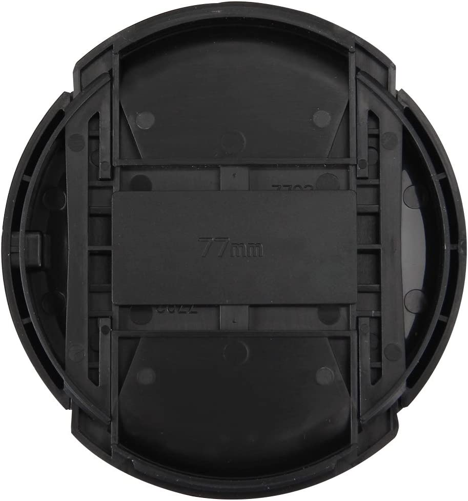 Durable 77mm Center Pinch Camera Lens Cap Black