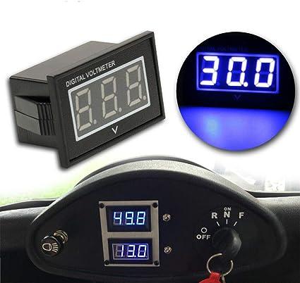 Digital 12V//24V Auto Car Vehicle System Voltmeter Voltage Gauge Volt Meter