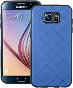 Phone Case for Samsung Galaxy S6 Slim Soft Rubber Case,Shock Resistant Rugged Lightweight Flexible Anti-Slip Slim Fit Full Body Protective Rubber Phone Cover for GlaxayS6 6S S 6 GS6 Dark Blue