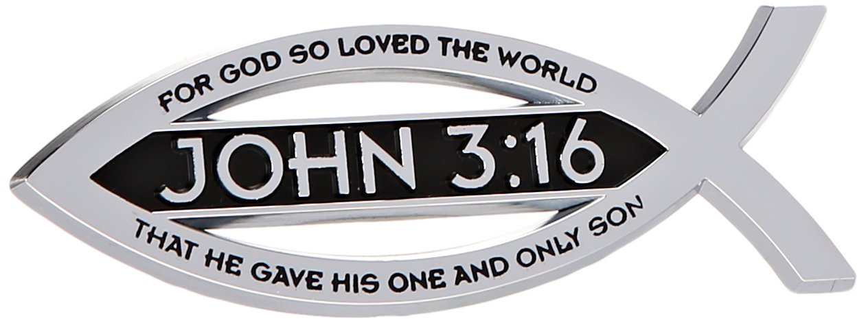Amazon John 316 For God So Loved The World Christian Fish Text
