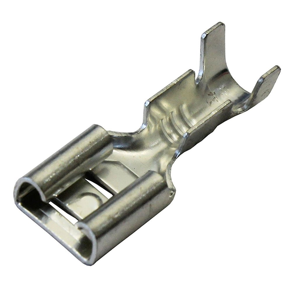 SODIAL(R) 100 x 6.3mm Uninsulated Female Spade Push On Crimp Terminal Non Insulated 2.5mm2