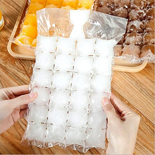 YAJUN Self-Seal Disposable Ice Cube Bags 24 Ice Cubes(50 ...