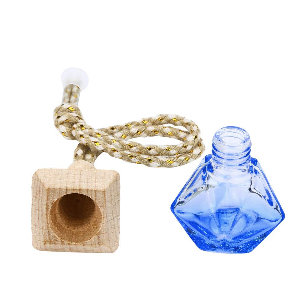 LEEDY - Ambientador Colgante para el hogar o el Coche, difusor de Fragancia, Botella de Cristal vacía, Adornos Colgantes de Bolas, Azul, Multi-Colored: ...
