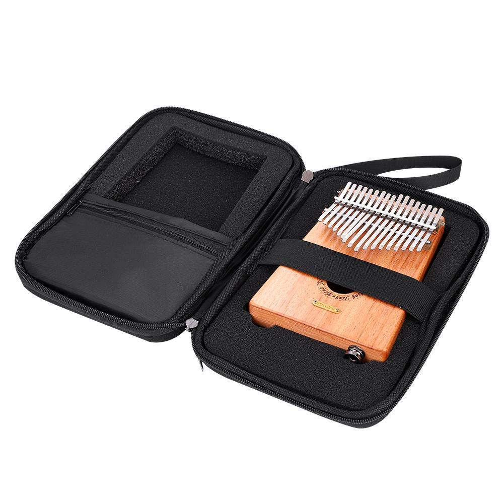 Dilwe Thumb Piano Case, Water-Resistant Thumb Piano Case Storage Bag for 10 & 17 Keys Kalimba