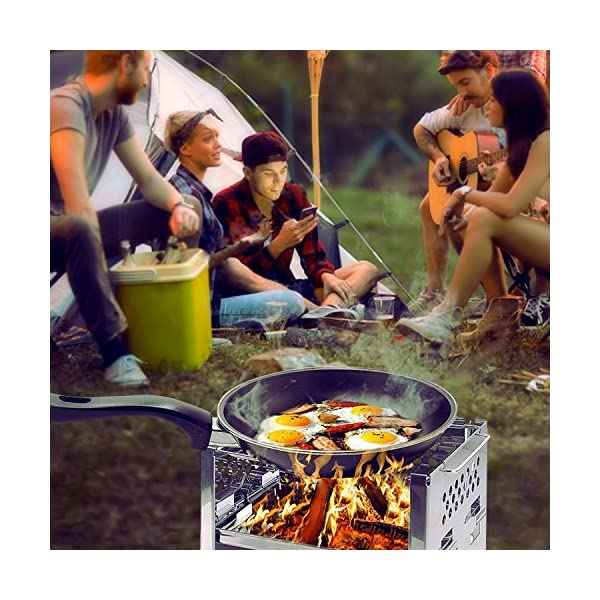 Unigear Wood Burning Camp Stoves Picnic BBQ Cooker/Potable Folding Stainless Steel Backpacking Stove 7