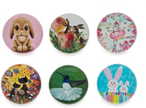 BestPysanky Bunnies, Hummingbird, Cats Easter Theme Fridge Magnets
