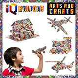 IQ BUILDER FUN CREATIVE DIY ARTS AND CRAFTS KIT | BEST TOY GIFT FOR GIRLS AND BOYS AGE 8 9 10 11 12 YEAR OLD | EDUCATIONAL ART BUILDING PAINTING COLORING 3D PUZZLE PROJECT SET FOR KIDS AND ADULTS