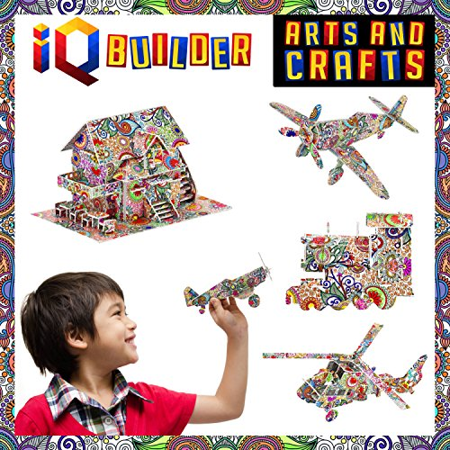 Iq builder fun creative diy arts and crafts kit best toy for Crafts for girls age 9