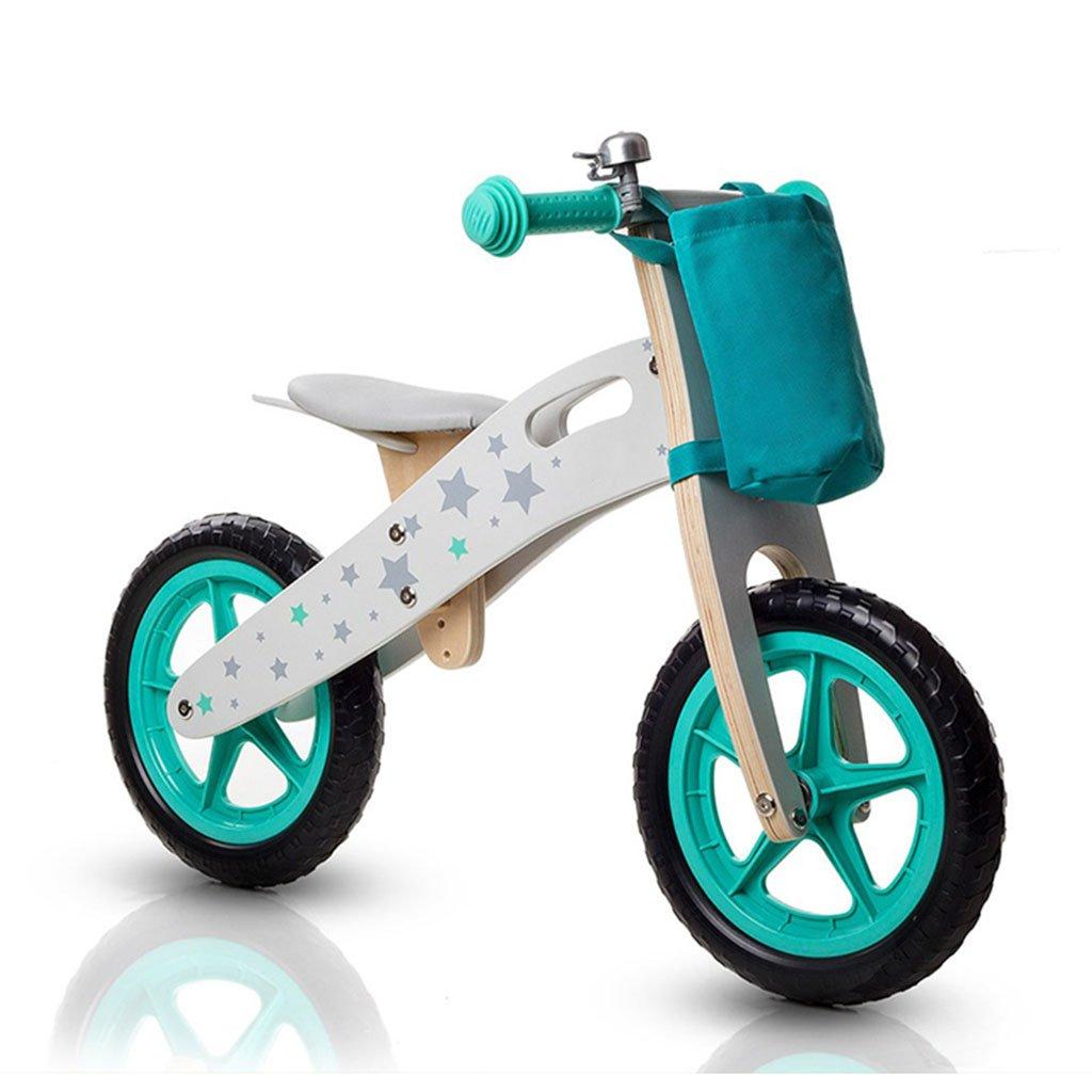 日本未入荷 スライディングカーウォーカー子供スクーター木製ベビー無ペダル自転車キッズおもちゃダブルホイール2-6歳 B07FYX54CK Green Green B07FYX54CK Green, ソヨウマチ:5f7df2fa --- a0267596.xsph.ru
