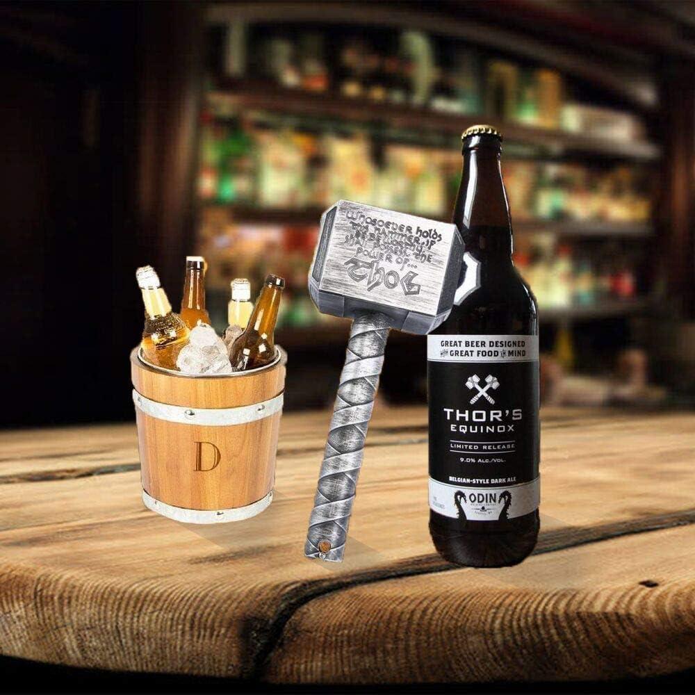 ZONSUSE Abridor Juguete de Martillo Bar Metal de Botellas Cerveza Abrelatas El Dise/ño del Im/án se Puede Unir a Objetos Met/álicos para un F/ácil Almacenamiento Magn/ético-Oro