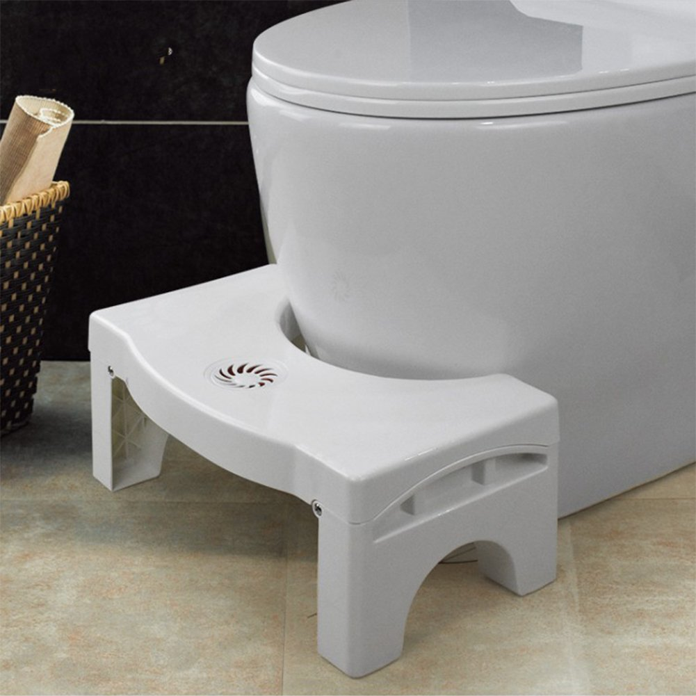 Home-organizer Tech Folding Squatting Stool ,Foldable Toilet Stool for Travel, Fits all toilets, Folds for easy storage, Use in any bathroom