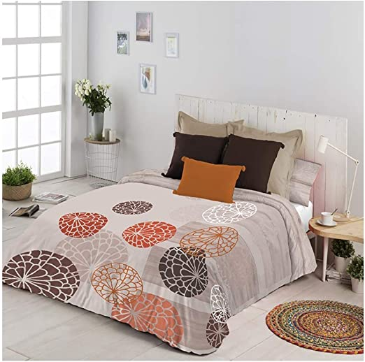 COTTON ARTean Funda Nordica Reversible Modelo UXUE Cama de 150/160 ...