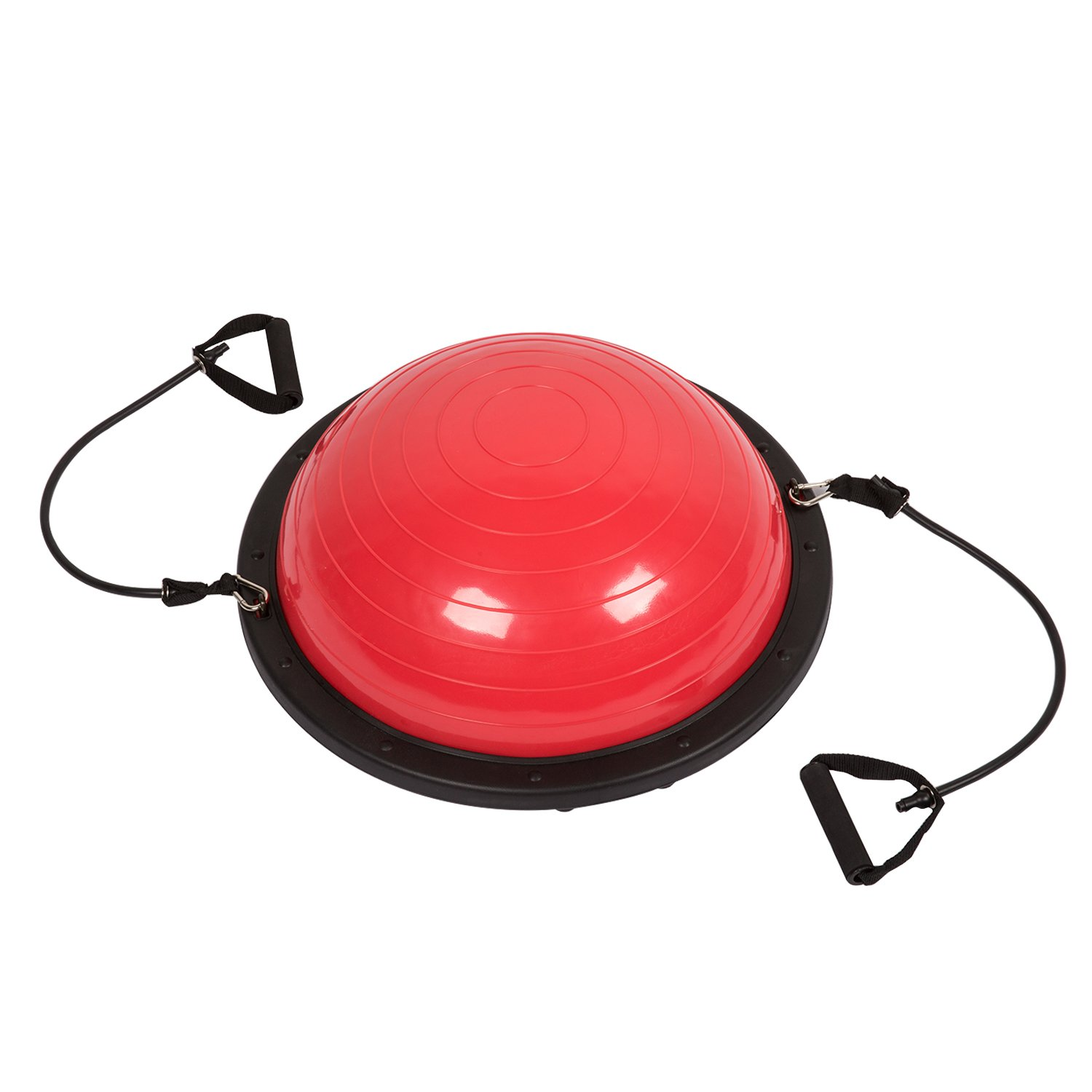 Peach Tree Large Yoga Balance Ball Trainer w/Resistance Bands & Pump Exercise Workout