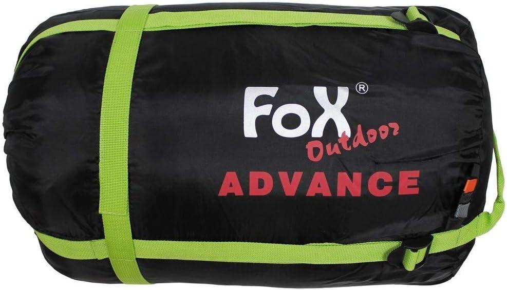 Fox Outdoor Advance Mummy Sacco a Pelo Nero Grigio