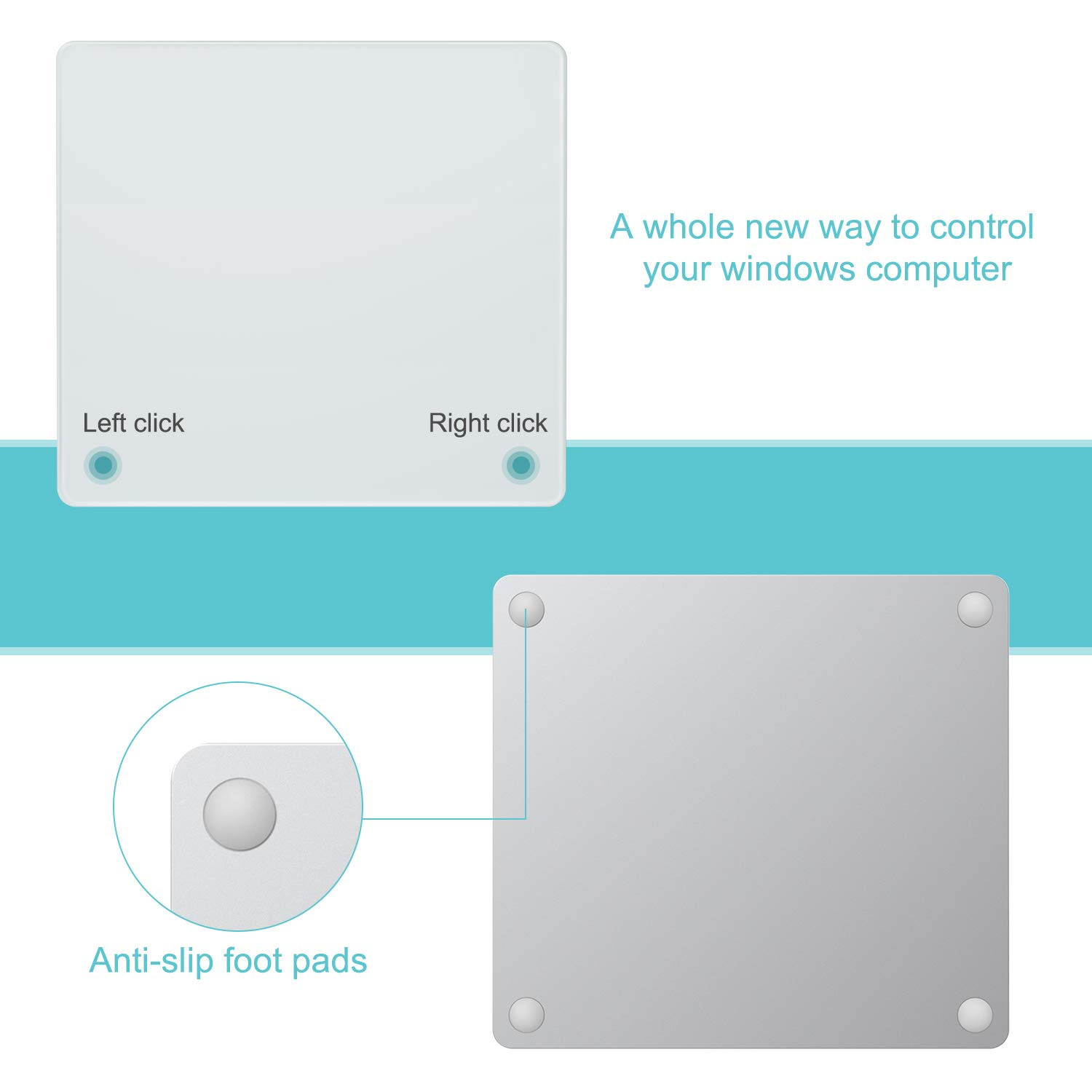 Laptop PC USB Touchpad Jelly Comb Multi-Touch Wired Trackpad for Windows 7 and Windows 10 Computer Notebook