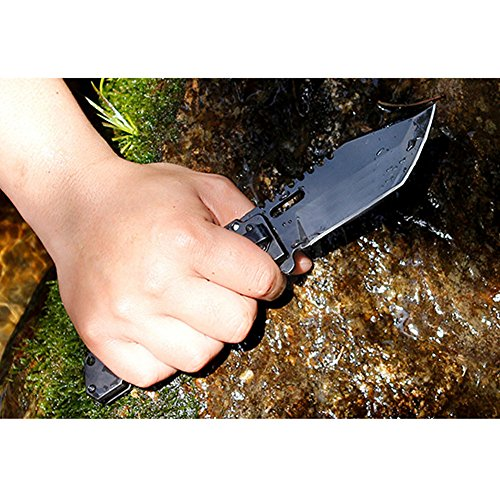 Pocket-Folding-Knife-Tactical-Knife-with-Safety-Liner-Lock-D2-Steel-Blade-G10-Handle-47-Inch-Closed-Good-for-Hunting-Camping-Fishing-Outdoor-Activities-Rescue-Knife-Fashion-cool