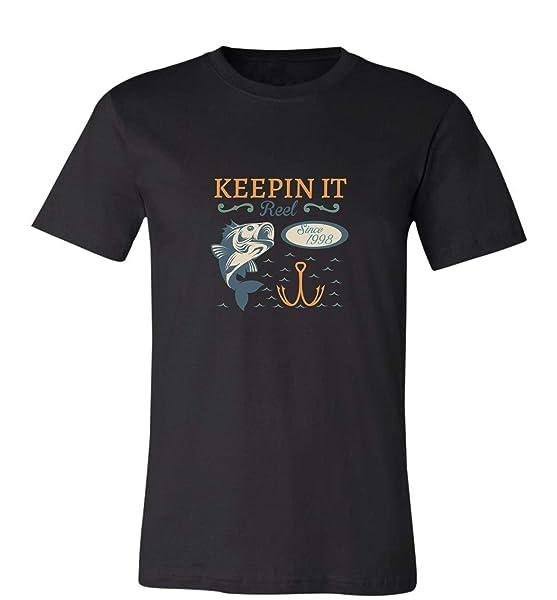 Keepin It Reel Since 199821st Birthday Funny Fishing Gift Idea Tshirt