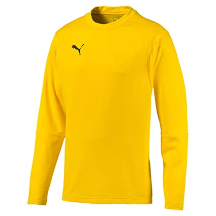 Puma Liga Training Sweat Sudadera, Hombre, Amarillo (Cyber Yellow/Black),
