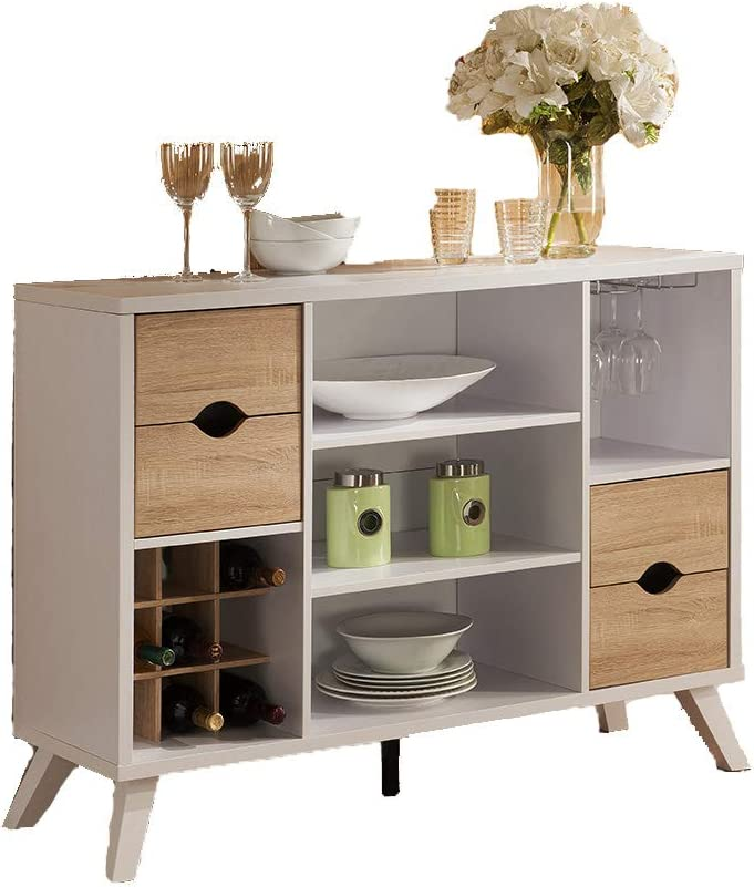 Vinum Album Scrinium Buffet Cabinet Sideboard Weathered White Color
