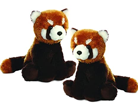 "Aurora Plush Lesser Panda Flopsie - 12"" Twin Packs"