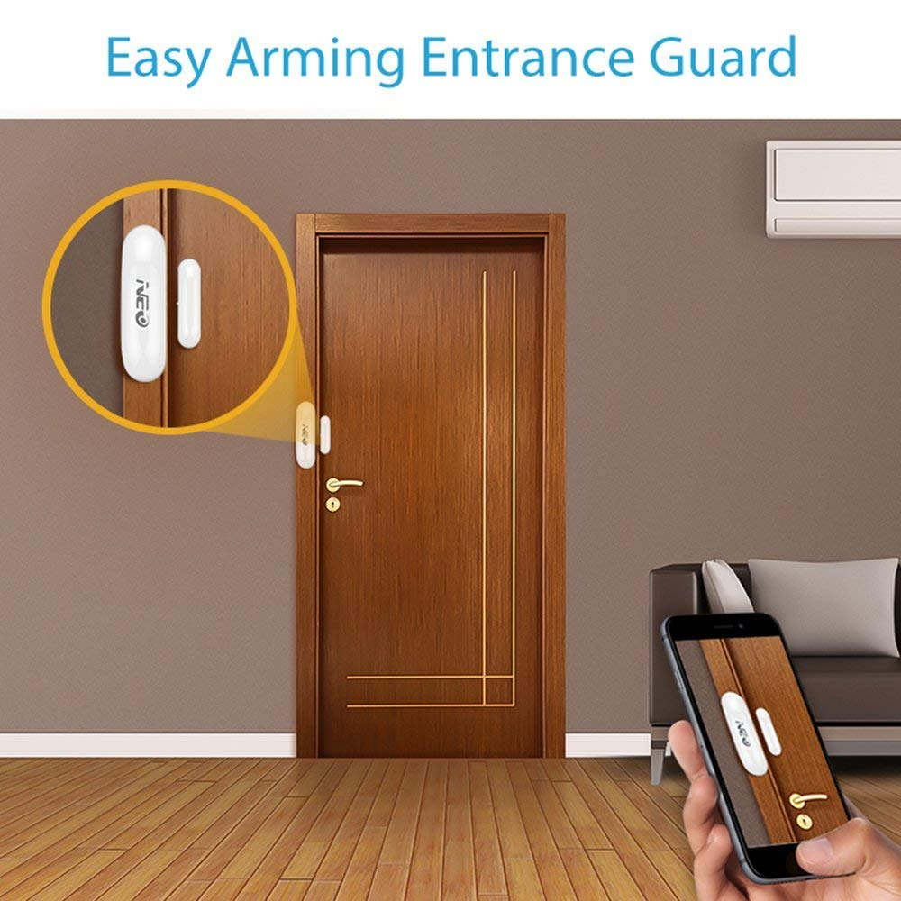 Coolcam Worlds Smallest Discreet Compact Z-Wave Plus Easy Install WiFi4PK 4PK Battery Operated PIR Motion Sensor