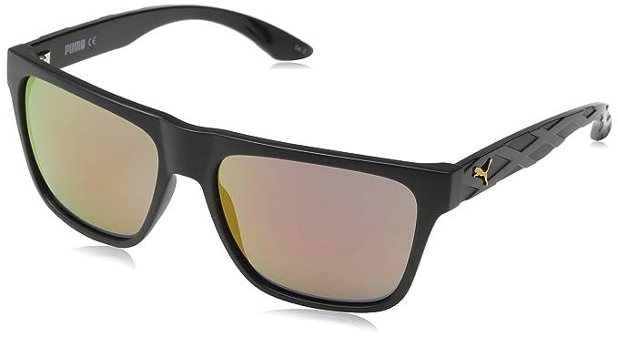 Puma PU0008S 001 Gafas de Sol, Negro (Black/Orange), 57 para ...