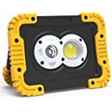 Sanlinkee LED Work Light, 30W 3000 Lumens USB Rechargeable Work Light with Spot Flood Combo Beam, Built-in Lithium Batteries,