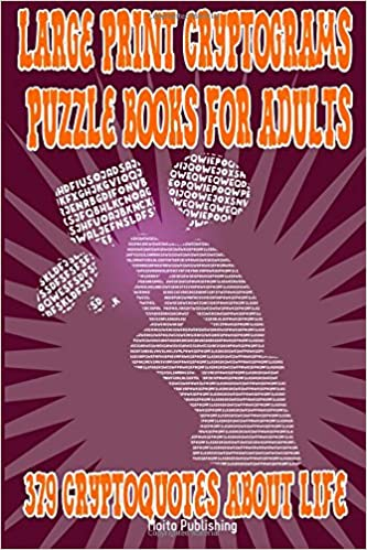 Large Print Cryptograms Puzzle Books For Adults 379 Cryptoquotes