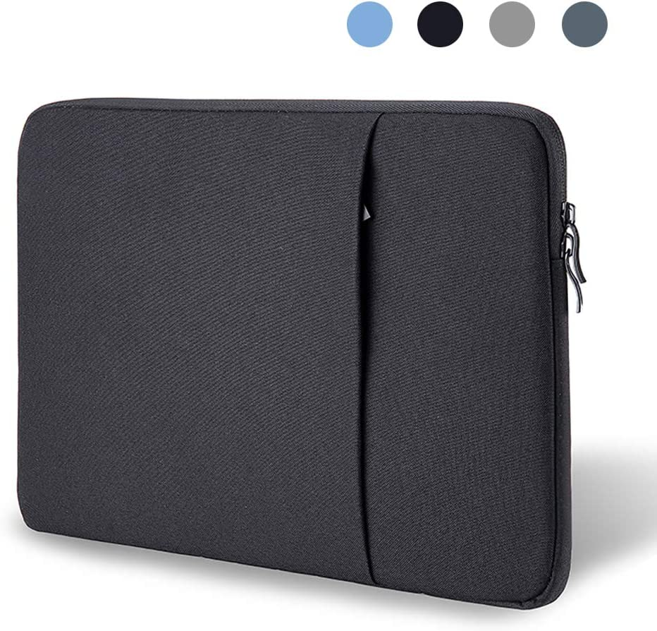 ProElife 12-Inch Laptop Sleeve Case Cover Canvas Tablet Protective Bag for Microsoft Surface Pro 4/Pro 5/Pro 6/Pro 7 12.3-Inch (2017 2018 2019) & MacBook Air 11.6-Inch MacBook 12-Inch (Black)