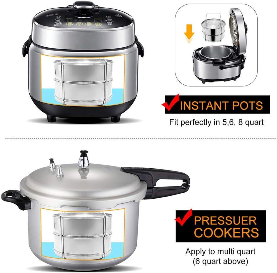 Vapor apilable de 2 capas/vaporizador de olla a presión/hogar/campo de camping/portátil/ahorro de tiempo: Amazon.es: Hogar
