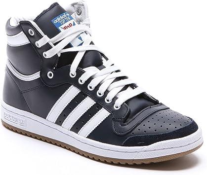 adidas Top Ten HI Zapatillas Sneakers Cuero Azul para Hombre NBA ...